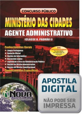 Agente Administrativo (Classe A, Padrão I)