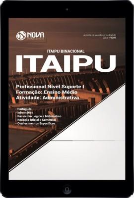 Download Apostila ITAIPU Pdf - Profissional Nível Suporte I - Atividade: Administrativa