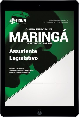 Download Apostila Câmara de Maringá - PR Pdf - Assistente Legislativo