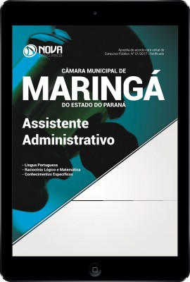 Download Apostila Câmara Mun. de Maringá - PR Pdf - Assistente Administrativo
