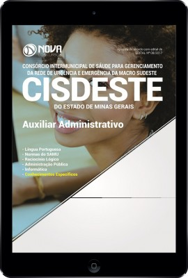 Download Apostila SAMU MG (CISDESTE) Pdf - Auxiliar Administrativo