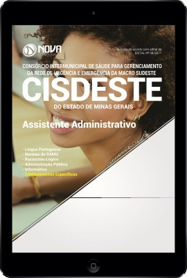 Download Apostila SAMU MG (CISDESTE) Pdf - Assistente Administrativo