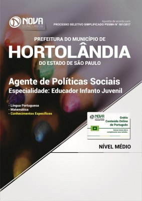 Apostila Prefeitura de Hortolândia - SP - Agente de Políticas Sociais – Educador Infanto Juvenil