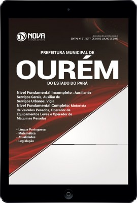 Download Apostila Pref. de Ourém-PA Pdf - Nível Fundamental Incompleto