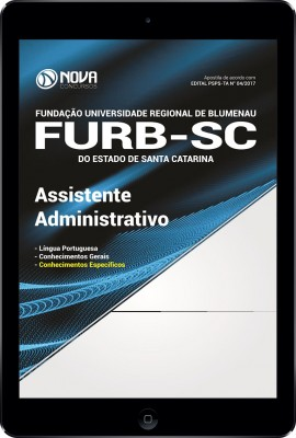 Download Apostila FURB-SC Pdf - Assistente Administrativo