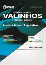 Apostila Câmara de Valinhos - SP - Analista Técnico Legislativo