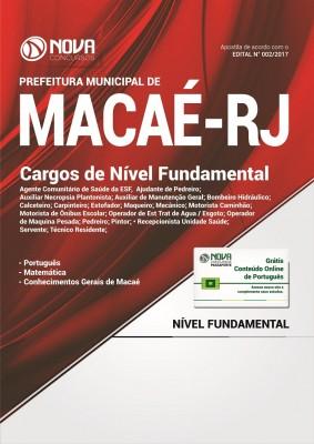 Apostila Prefeitura de Macaé-RJ - Cargos de Nível Fundamental