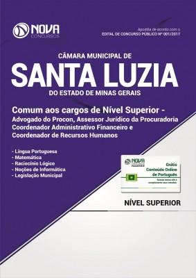 Apostila Câmara de Santa Luzia - MG - Comum Aos cargos de Nível Superior