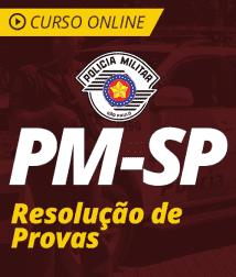 Curso Online PM-SP - Resolução de Provas