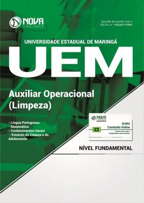 Apostila UEM-PR - Auxiliar Operacional (Limpeza)