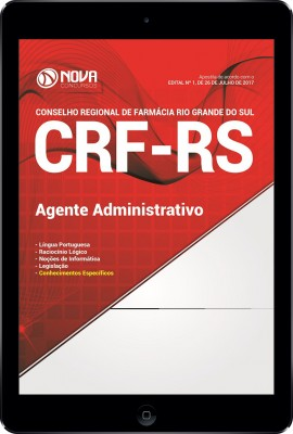 Download Apostila CRF-RS Pdf - Agente Administrativo