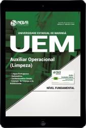 Download Apostila UEM-PR Pdf - Auxiliar Operacional (Limpeza)