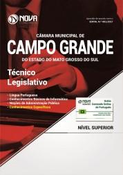 Apostila Câmara de Campo Grande - MS - Técnico Legislativo
