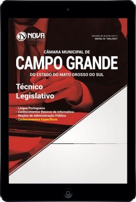 Download Apostila Câmara de Campo Grande - MS Pdf - Técnico Legislativo