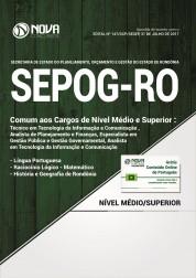 Apostila SEPOG-RO - Comum aos Cargos de Nível Médio e Superior