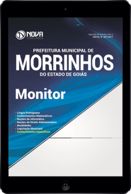 Download Apostila Pref. de Morrinhos - GO Pdf - Monitor