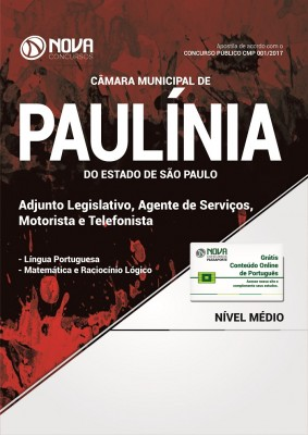 Apostila Câmara Mun. de Paulínia-SP - Adjunto Legislativo, Agente de Serviços, Motorista e Telefonista