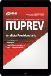 Download Apostila ITUPREV SP Pdf - Analista Previdenciário