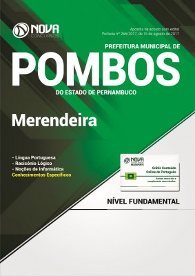 Apostila Prefeitura de Pombos - PE - Merendeira