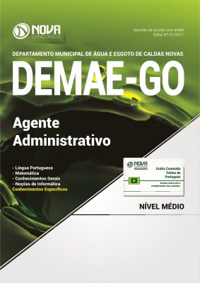 Apostila DEMAE-GO - Agente Administrativo