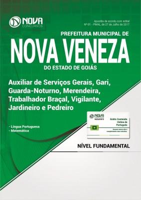 Apostila Prefeitura de Nova Veneza - GO - Cargos de Nível Fundamental Incompleto