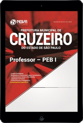 Download Apostila Prefeitura de Cruzeiro - SP Pdf - Professor – PEB I