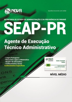 Apostila SEAP-PR -  Agente de Execução - Técnico Administrativo