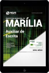 Download Apostila Prefeitura de Marília-SP PDF 2017 - Auxiliar de Escrita