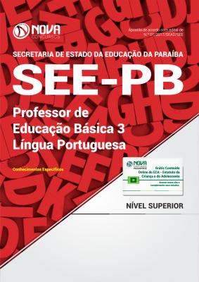 Apostila SEE-PB - Professor de Educação Básica 3 - Língua Portuguesa