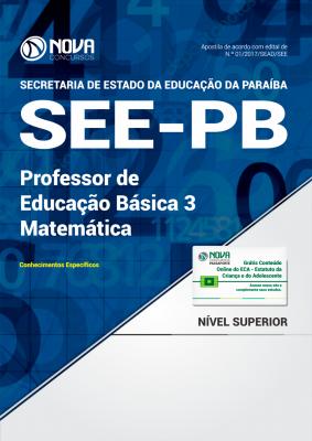 Apostila SEE-PB - Professor de Educação Básica 3 - Matemática