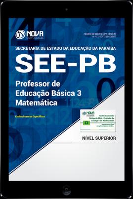 Download Apostila SEE-PB PDF - Professor de Educação Básica 3 - Matemática