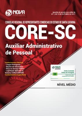 Apostila CORE-SC - Auxiliar Administrativo de Pessoal
