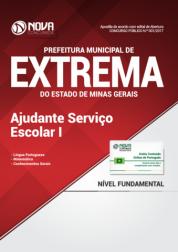 Apostila Prefeitura de Extrema-MG - Ajudante de Serviço Escolar I