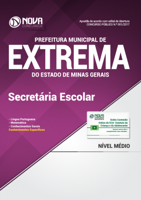 Apostila Prefeitura Municipal de Extrema-MG - Secretária Escolar