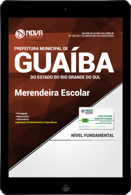 Download Apostila Prefeitura de Guaíba-RS PDF - Merendeira Escolar