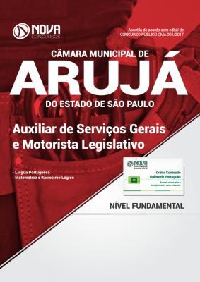 Apostila Câmara Municipal de Arujá-SP - Auxiliar de Serviços Gerais e Motorista Legislativo