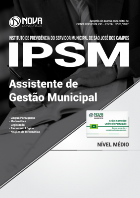 Apostila IPSM-SP - Assistente de Gestão Municipal