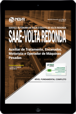 Download Apostila SAAE Volta Redonda-RJ PDF - Auxiliar de Tratamento + Diversos Cargos