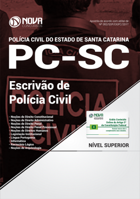 Apostila PC SC - Escrivão de Polícia Civil