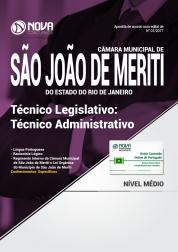 Apostila Câmara Municipal de São João de Meriti-RJ - Técnico Legislativo: Técnico Administrativo