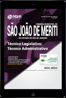 Download Apostila Câmara Municipal de São João de Meriti-RJ PDF - Técnico Legislativo: Técnico Administrativo
